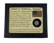 Authentic Revolutionary War Bullet From Yorktown Va With Display Case And Coa
