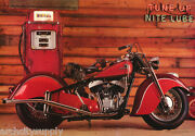 Lot Of 2 Postersmotorcyclestune Up-night Lube - Indian Mand039cycle 3074 Lp50 N