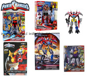 Power Rangers Megazord -titano Charge/turbo Falcon/5 In 1/lion Fire Fortress-new