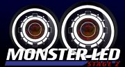 Monster Stage 2 Led Headlights Jeep Wrangler Hidprojectors Switchback Halos 7