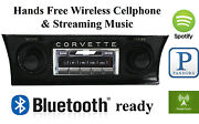 1968-1976 Corvette Am Fm Bluetooth And New Stereo Radio Ipod Usb Aux In 300 Watts