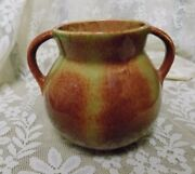 VINTAGE CERAMIC POTTERY~DOUBLE HANDLED VASE~BOYS TOWN~FALL COLORS