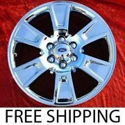 Set Of 4 Chrome 20 Ford F-150 Oem Factory Wheels Rims Expedition Mark Lt 3787