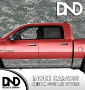 Camo Digital Military Rocker Panel Wrap Graphic Decal Kit Truck Camouflage