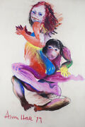 Anne Marie Hall - Dancing Lovers - Original Pastel Signed - John Percevaland039s Wife