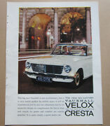 Vauxhall Velox Cresta Coventry Climax Single Page Magazine Advert C.1960and039s