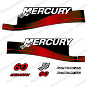 Mercury 60hp Fourstroke Efi Outboard Decals Reproductions Red