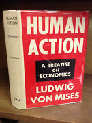 Ludwig Von Mises Human Action - 1949 2nd Printing In Jacket Economic History