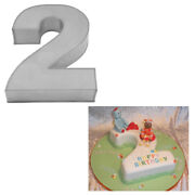 Large Number Two Birthday Wedding Anniversary Cake Tins / Pans / Mould By Falcon