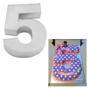 Large Number Five Birthday Wedding Anniversary Cake Tins /pans / Mould By Falcon