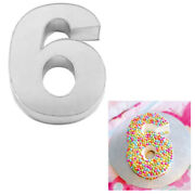 Large Number Six Birthday Wedding Anniversary Cake Tins /pans / Mould By Falcon