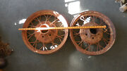 Two Vintage Ford Wire Wheels