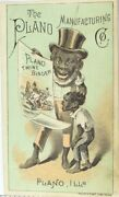 1870and039s-80and039s The Piano Manufacturing Harvester And Binder Victorian Trade Card P65