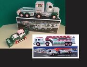 2013 Hess Toy Truck And Tractor Missing Tracks And Hess Fire Truck New Condition