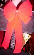 Bow Decoration- Christmas Red, 10 X 11 Streamers 11 In The Lot