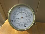 Vintage Boston For Swift West Germany Brass Ship Barometer , Very Collectible
