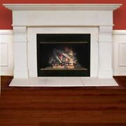 Roosevelt Cast Stone Mantel With Insert And Lined Hearth - 72
