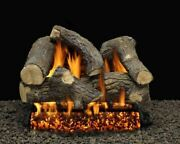 30 Sumerset Blaze Logs With Double Manual Safety Pilot Burner Tube - Lp