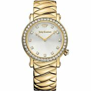 Juicy Couture Womens La Luxe Gold Tone Watch Rrp Andpound375 New