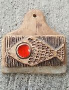 Vintage Mid Century Italian Pottery Match Holder Fish Decor al Canale Venetian