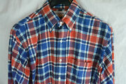 Thom Browne Red White Blue Plaid Flannel Thick Cotton Casual Shirt 3 4 5 X-large