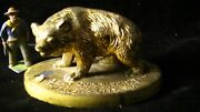 Aw. Bear Commission Co. Advertising Bear Paperweight 294