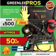 Greenlee 7310 Sb Knockout Set 1/2 To 4 , Preowned , Free Grinder, Quick Ship