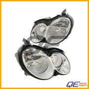 Set Of Left And Right Headlights Assembly Hella For Mercedes W209 Clk350 Clk320