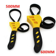 2pcs Adjustable Strap Wrench Tool For Car Truck Oil Filter Removal Home Can Cap