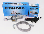 Exedy Master And Slave Cylinder And Silver Clutch Line Kit 94-01 Acura Integra