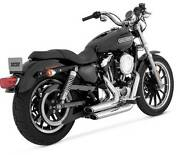 Vance And Hines Shortshots Staggered Exhaust System,chrome, 17219, Hd Sportster