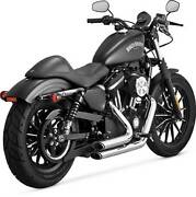 Vance And Hines Short Shots Staggered Exhaust System, Chrome, 17219, Hd Sportster