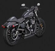 Vance And Hines Black Shortshots Staggered Exhaust 47229 2014-17 Sportster Xl