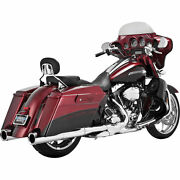 Vance And Hines Chrome Power Duals Head Pipes For Harley '09-'16 Touring