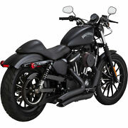 Vance And Hines Black Big Radius 2-2 Exhaust For Harley Sportster Xl 14-15