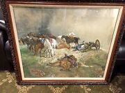 Original John Lewis Brown British 1829 - 1890 Gouache On Paper Signed Dated