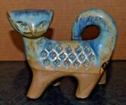 Art Pottery/Ceramic Cat by M.A.& S #5893