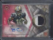 Brandin Cooks 2014 Topps Valor Heart Shield Red Rpa 3 Color Patch Auto Rc D 1/1