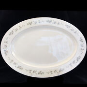 Brookdale H500 Platinum Large Platter 16.25 By Lenox New Never Used Made In Usa