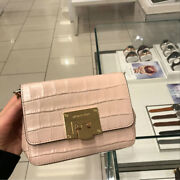 Nwt Tina Mk Embossed Leather Crossbody Bag Ballet Pink Small 268
