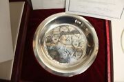 The Carolers By Norman Rockwell Franklin Mint Sterling Silver Christmas Plate