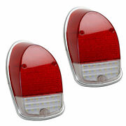 Led Tail Light Lens For Vw Bug 1968-1970, Left And Right - Pair