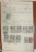 Syria Doc Hedjaz Taa And Ottoman Deed Revenue Stamps Ovpt Alaouites Territories