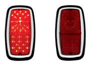 Pair 2 Red Led Brake Stop Turn Tail Lights For 1962-1968 Shelby Cobra