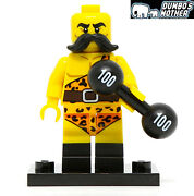 Lego Circus Strong Man Minifigure Series 17 Collectible Minifigure W/stand 71018