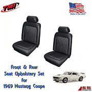 Black Front And Rear Seat Upholstery For 1969 Mustang With Sportsroof