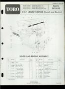 Toro 5hp Lawn Tractor Riding Mower 57003 57017 57025 Illustrated Parts List