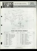 Toro 7hp Lawn Tractor Riding Mower Model 57043 57077 Illustrated Parts List