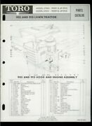 Toro 905 910 Lawn Tractor Mower Model 57002 57051 Illustrated Parts List