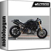 Spark 2 Exhausts Racing Round Dark Style Ducati Monster S2r 1000 2008 08